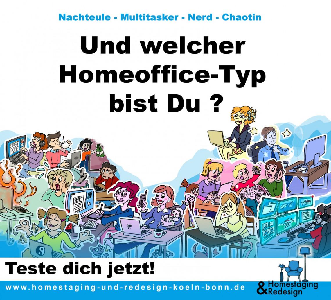 Welcher Homeoffice Typ bist du | Homestaging und Redesign Köln Bonn